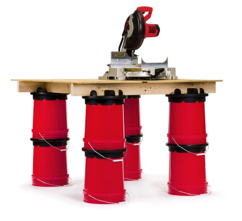 Build a table for your Chop Saw with a Handy Bucket Builder from Smith and Edwards
