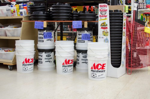 Handy Bucket Builder shelf and display at Smith and Edwards