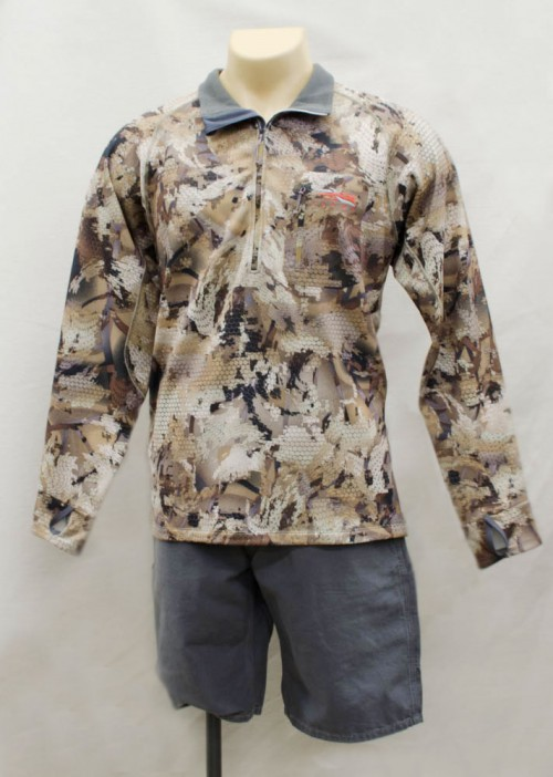 This Sitka waterfowl jacket is designed to look like a wetland when viewed from overhead.