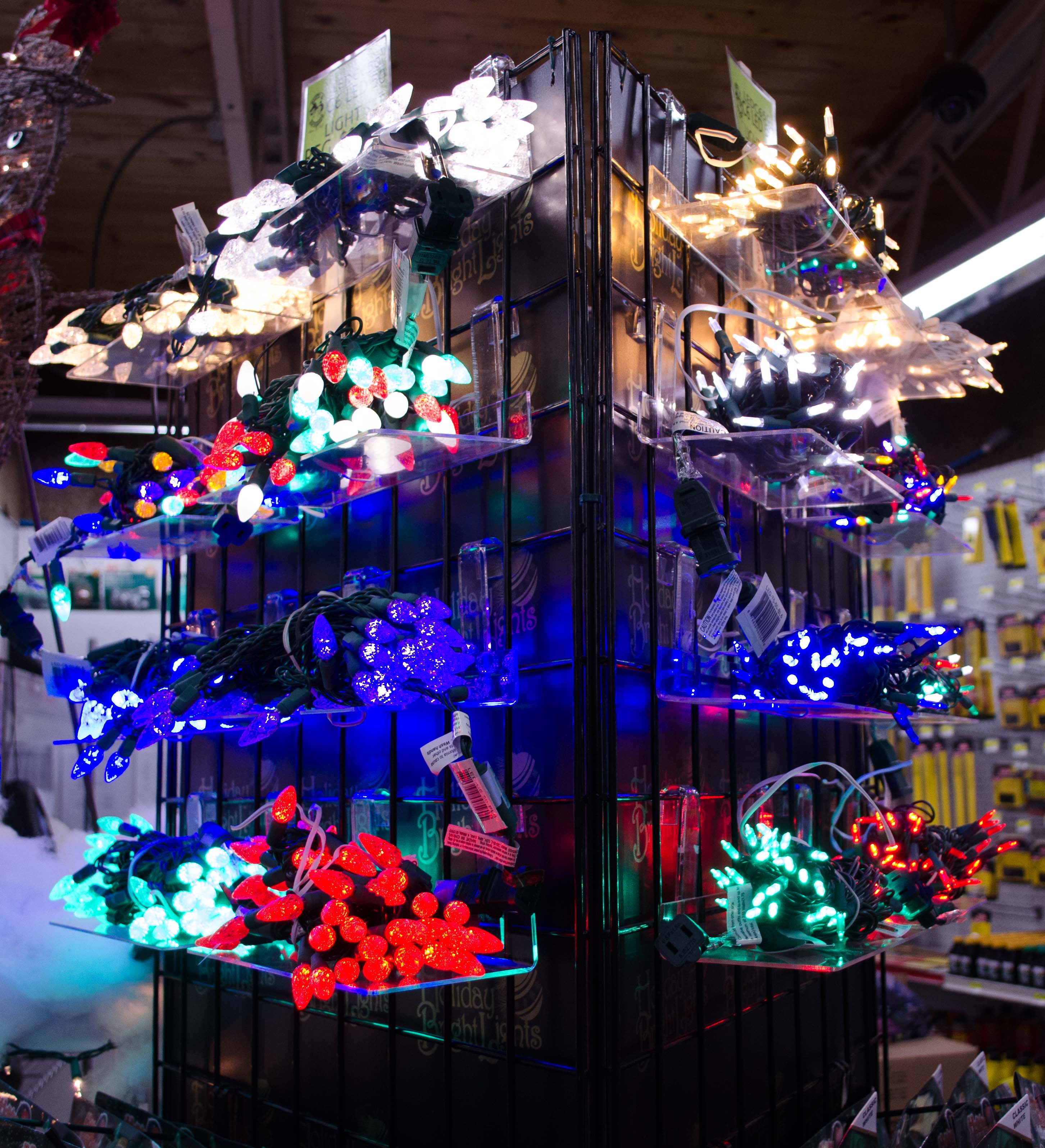 Christmas lights in all colors and shapes - Smith and Edwards