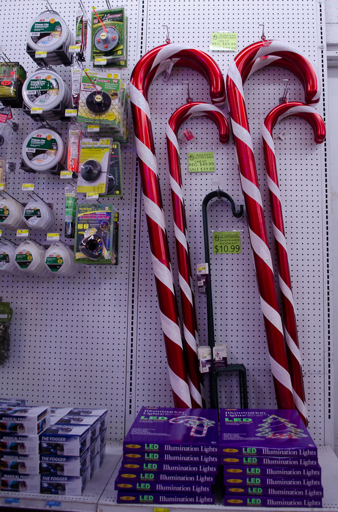 Huge candy canes for your home! Smith and Edwards