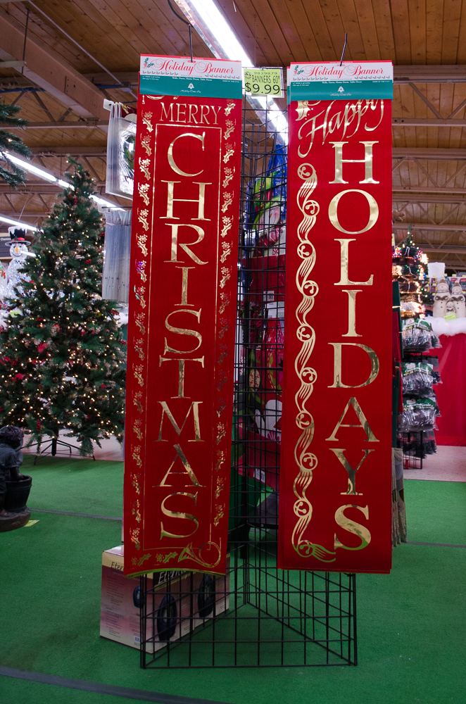 Holiday banners for your porch - Smith and Edwards