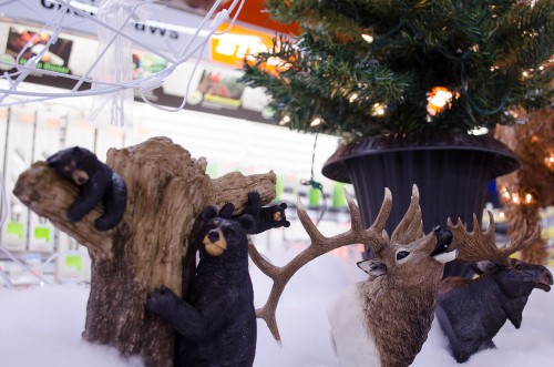 Bear, Moose, and Deer tree toppers at Smith and Edwards
