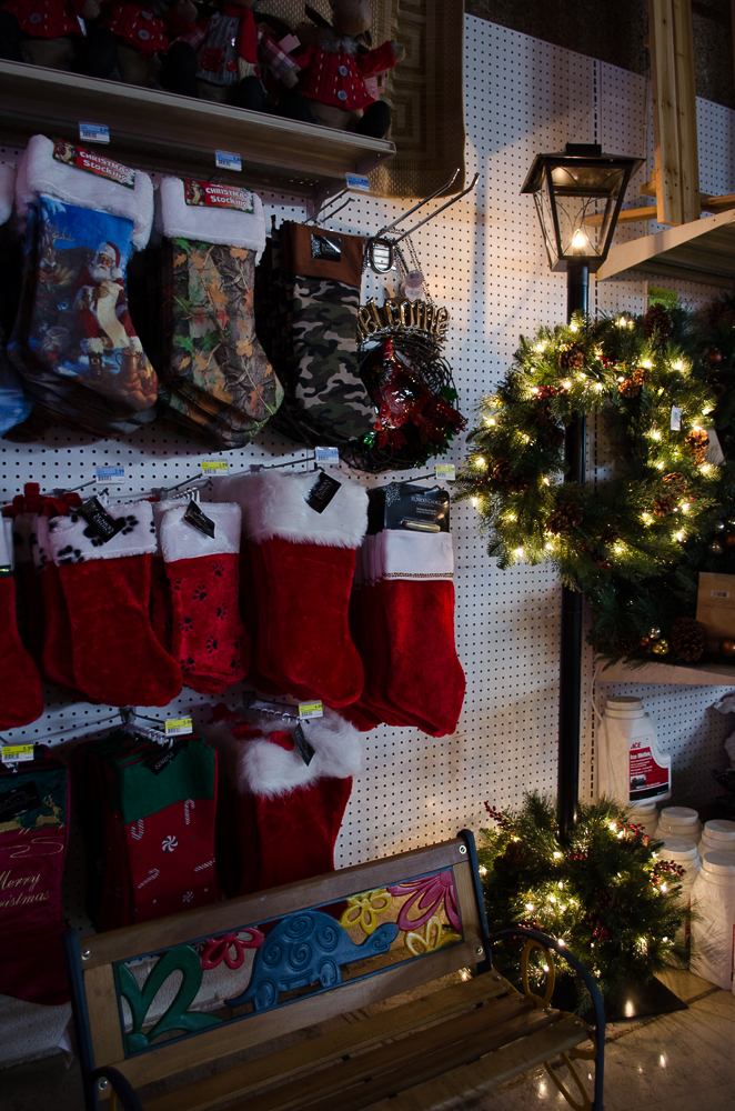 Lots of Christmas stockings and wreaths to choose from at Smith and Edwards
