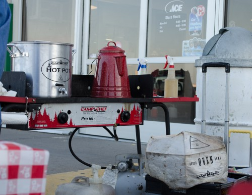 Who doesn't love the coffee and hot chocolate camp stove setup that they have?