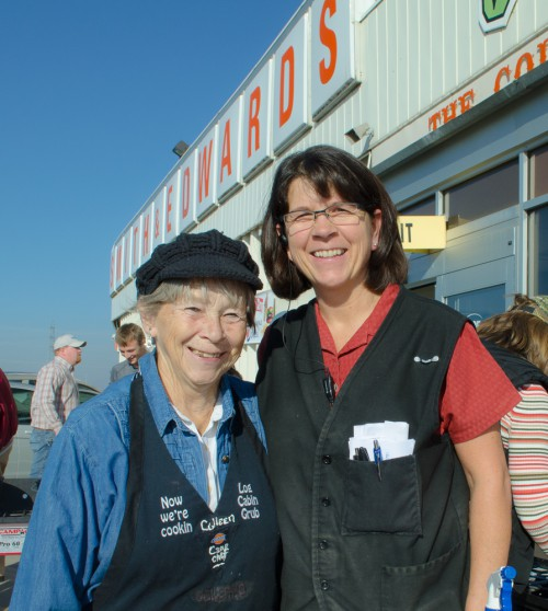 Colleen Sloan and Vickie Maughn, our Housewares manager