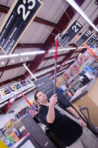 Use the angle brush to clean your ceiling fans! Demo'd at Smith and Edwards