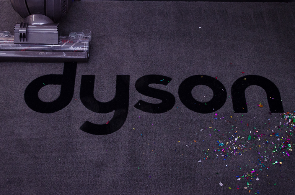 Dyson Animal Complete vacuum meets confetti at Smith and Edwards