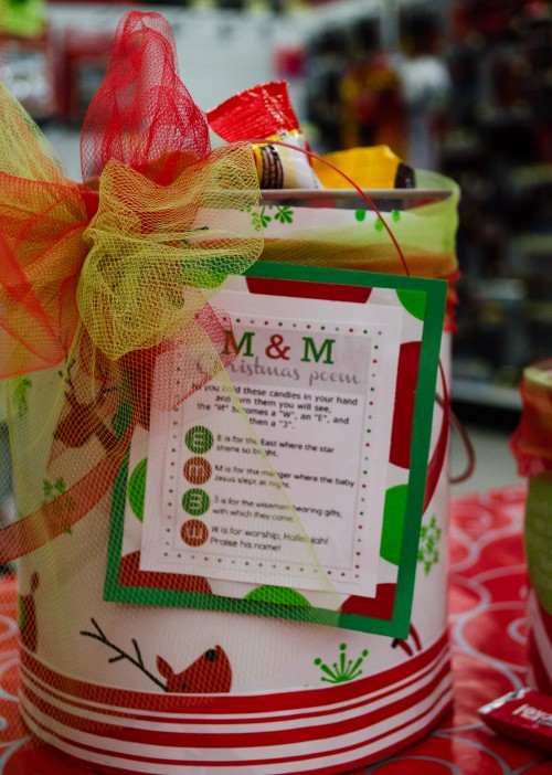 Paint Can M&M Poem Gift Ideas