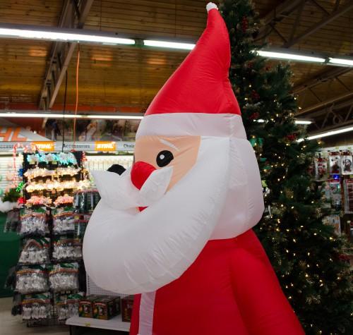 Inflatable Santa at Smith & Edwards
