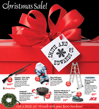 Smith and Edwards' Christmas Sale