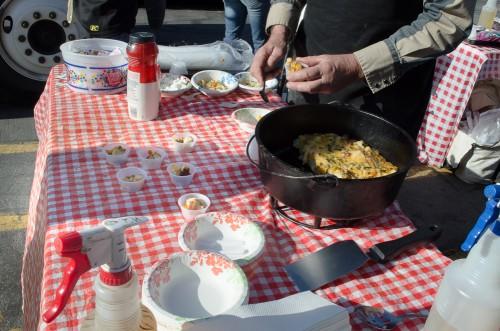 Dutch oven taco bread - serving up