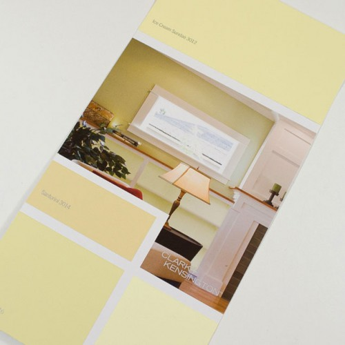 Yellow color palette from Clark and Kensington at Smith and Edwards for Rose's living room