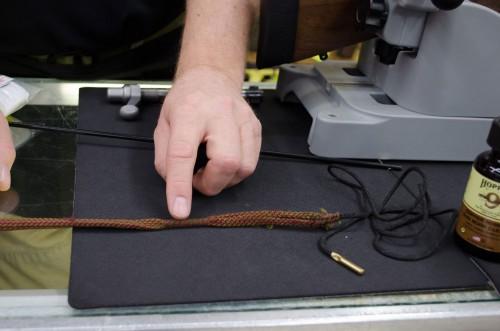 Nylon bristles of a boresnake