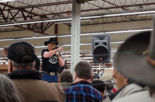 Mike Montgomery at the Smith and Edwards Gun Auction