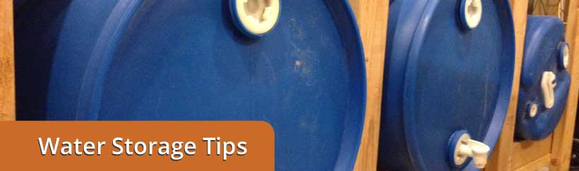Water Storage Tips