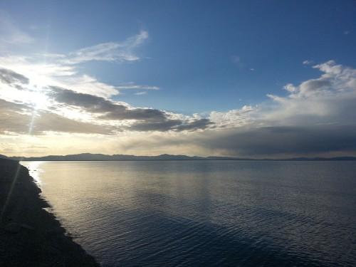 Willard Bay, Utah at sunset by Chris Jacobsen, Smith & Edwards