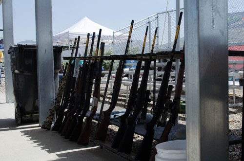 Browning rifles on display at Range Day