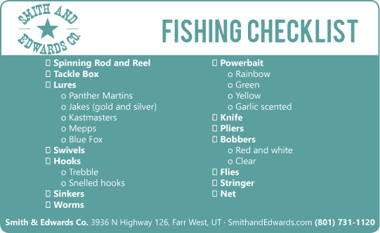 cub scout camping list