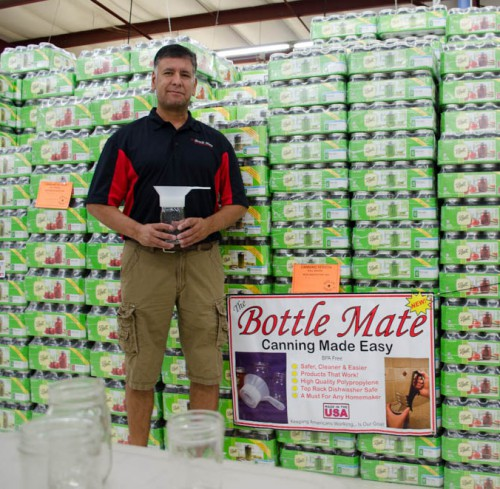 Mark Gallegos and his Bottle Mate Canning Funnel