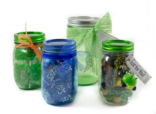 Blue and Green limited edition mason jars