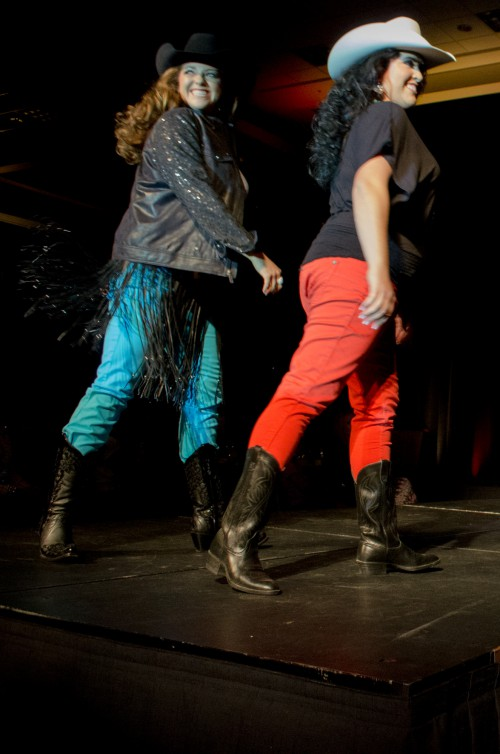Cassidy Black and Dianna Drollette at Miss Rodeo Utah 2014