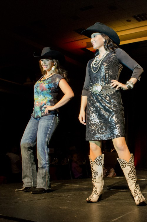 Rachel Halverson and Shianne Lowe at Miss Rodeo Utah 2014
