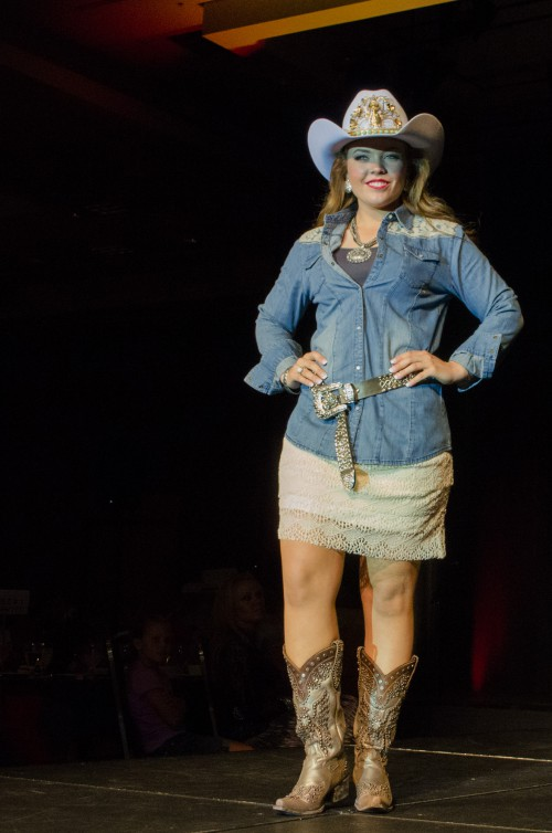 Brandy Mortensen wearing Wrangler for Smith and Edwards at Miss Rodeo Utah