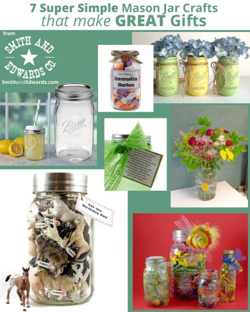 Seven Mason Jar Gift Ideas on SmithandEdwards.com
