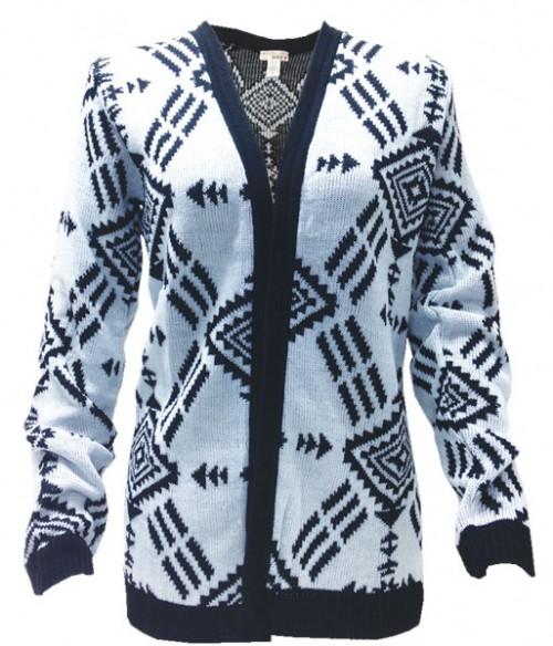 Trendy Juniors' Aztec print cardigan