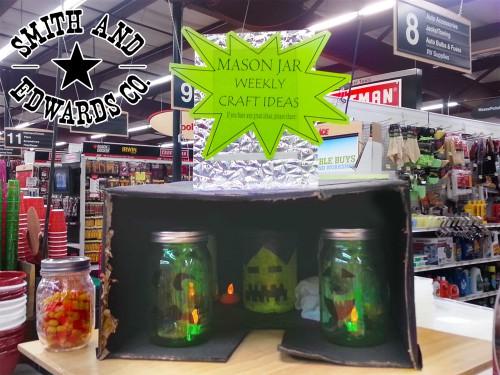 Halloween Mason Jar ideas: Jack O'Lantern Jars