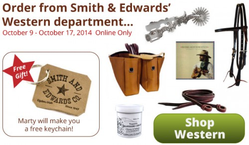 Get a free keychain with your Western order at Smith and Edwards