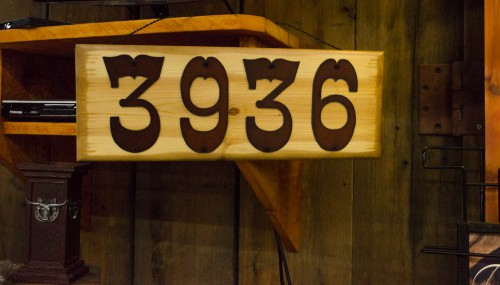 Western house numbers