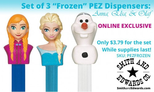 Elsa, Olaf, & Anna Pez Dispensers