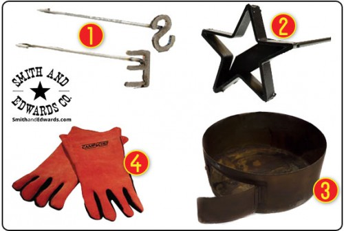Fire Pit, Steak Brands, and Barbecuing Gloves