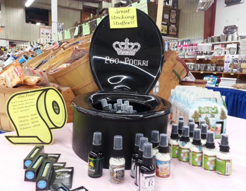 A Display of Poo-Pourri Bottles