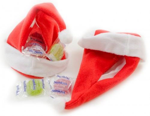 Stuff these Santa hats with Candy!