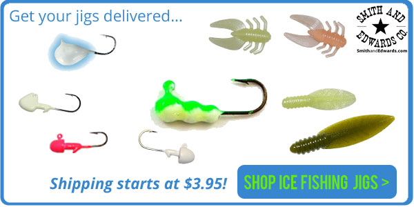 Get your ice fishing jigs delivered from SmithandEdwards.com!