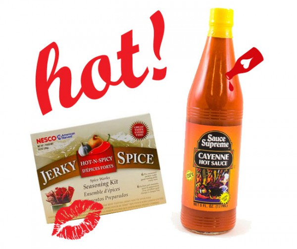 Hot & Spicy Jerky Seasoning and Hot Sauce