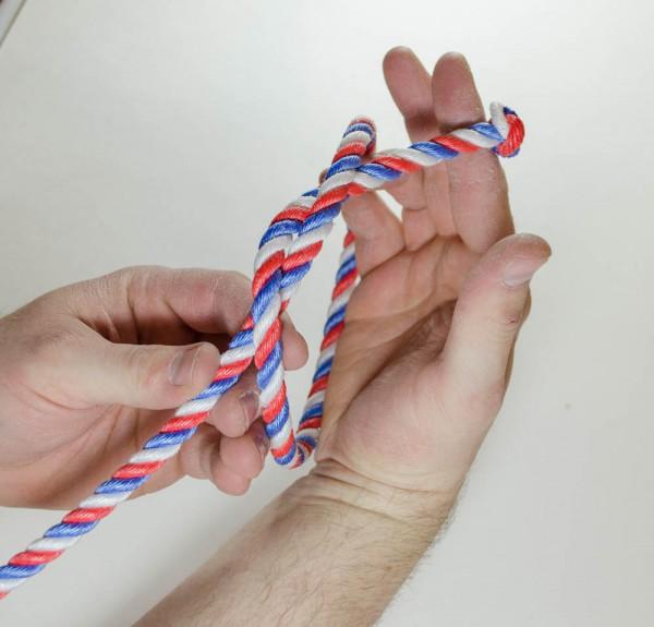 Make an overhand knot