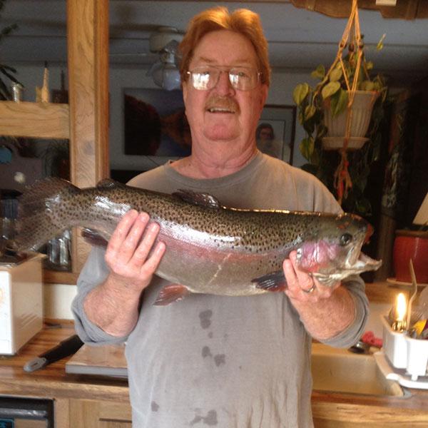 Allen Larsen and his Rainbow Trout outta Brigham City's Pioneer Park pond