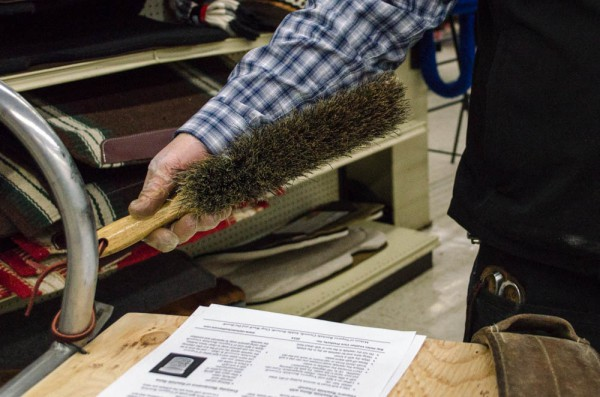 Bristle Brush for cleaning Western tack