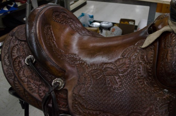 Cleaned Leather Saddle