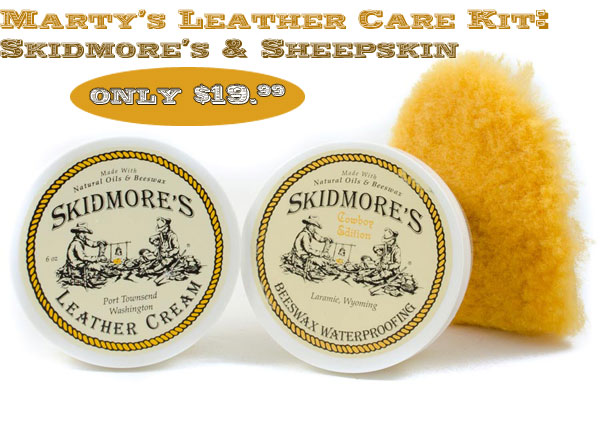 Clean your saddle with Marty's leather care kit!