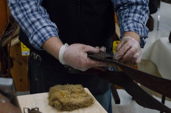 Scraping the Stirrup Leathers off