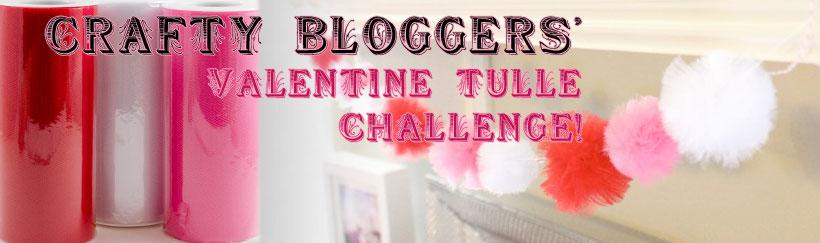 Valentine Tulle Crafty Blogger Challenge