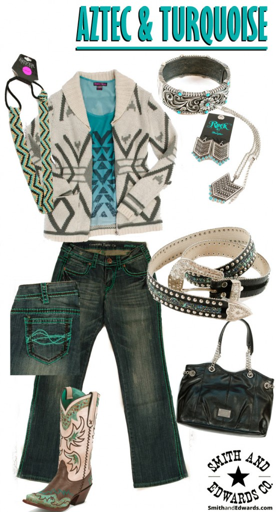 Spring Outfit with Aztec and Turquoise theme at Smith & Edwards