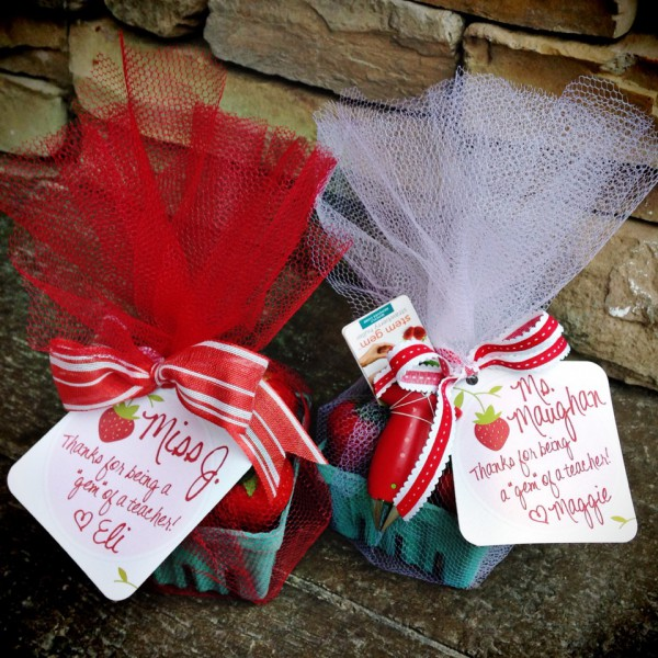Strawberry teacher gifts for the ender of the year