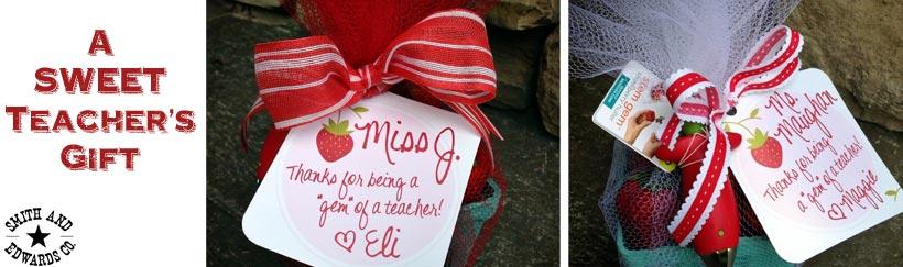A Sweet Teacher's Gift idea