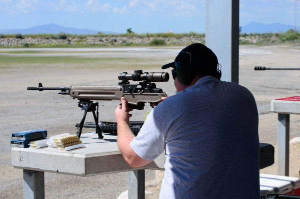 Long range rifle - photo by Rebecca Adams